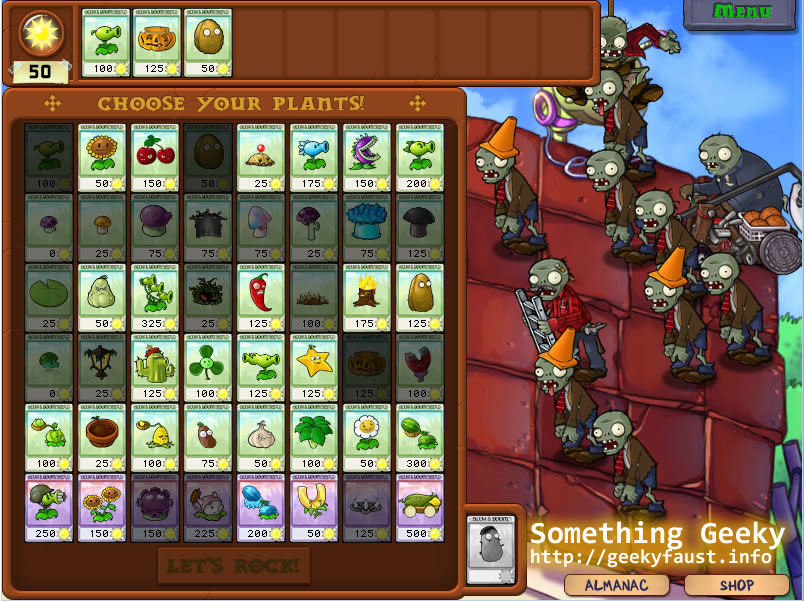 plants vs zombies plants. Plants vs. Zombies: A truly
