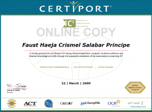 IC3 Certificate