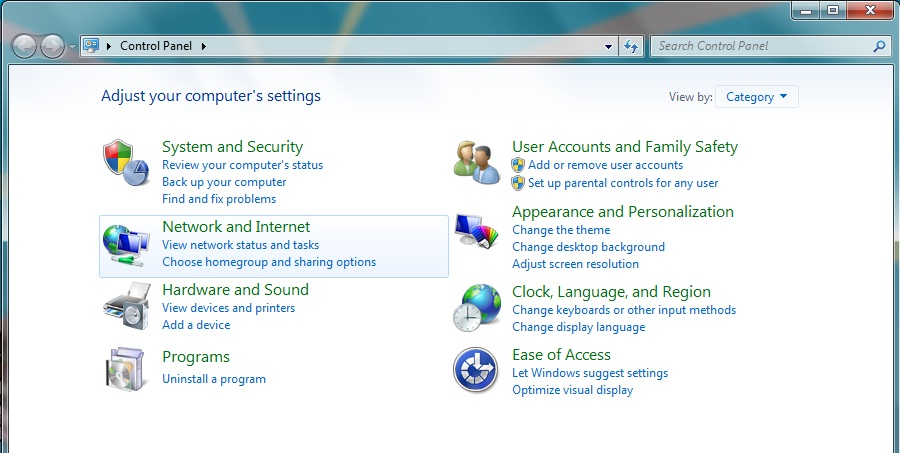 how to connect lan internet to laptop windows 7