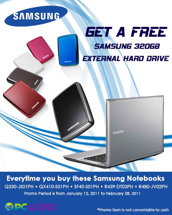 Free Samsung External 320 Hard Drive