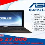 ASUS K43SJ-VX043 priced at Php 27,000