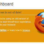 WordPress 3.2 Dashboard informs Update to New Firefox