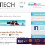Globe Annoys Subscribers with Its Toolbar