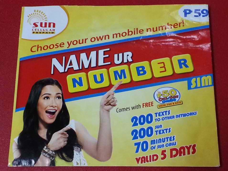 Sun Name Your Number Sim