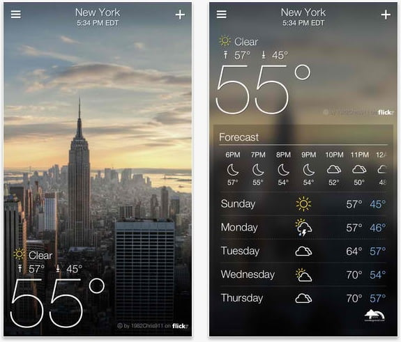 Introducing the yahoo weather app for iphone ipod and for Application iphone temperature interieur