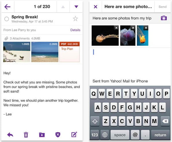 yahoo mail tablets