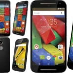 motorola moto e, g and x