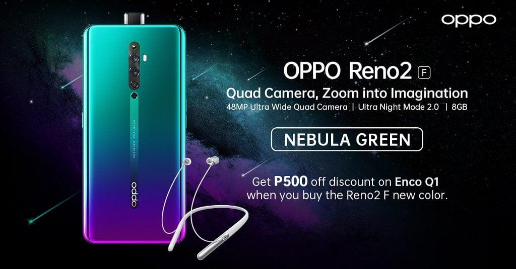 OPPO Reno 2 Nebula Green