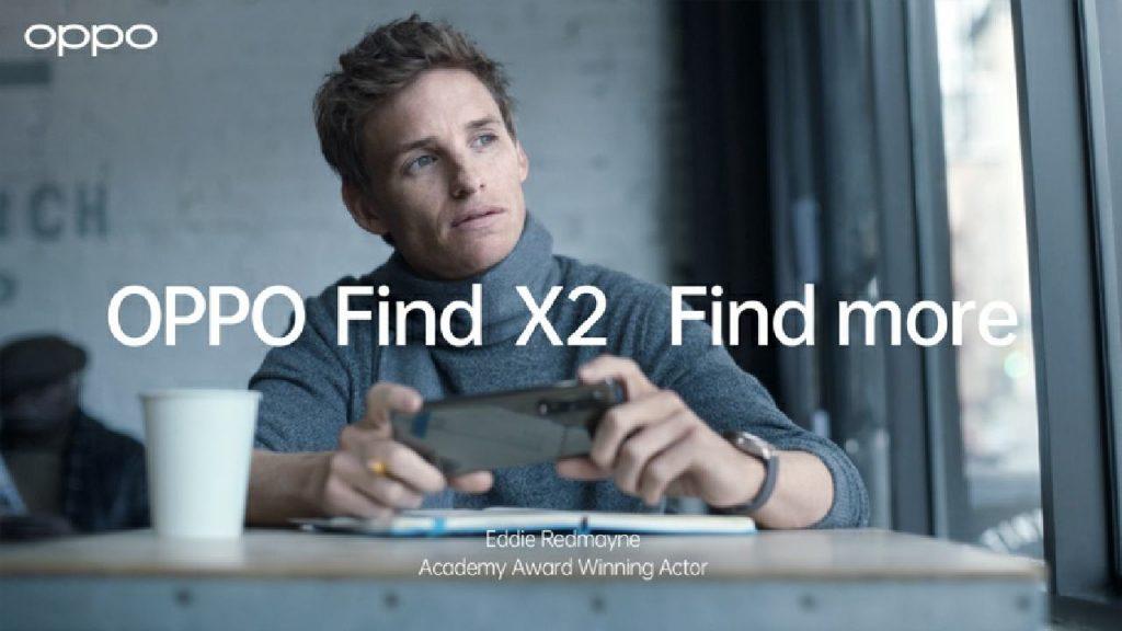 OPPO Find X2 Pro with Eddie Redmayne